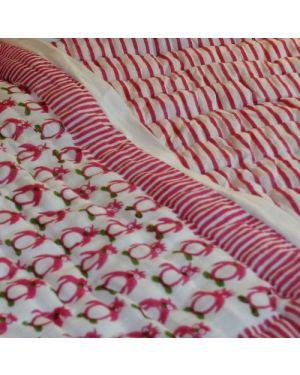 Pink Penguins quilt